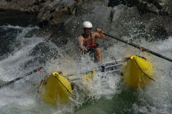safety kayaker and cataraft